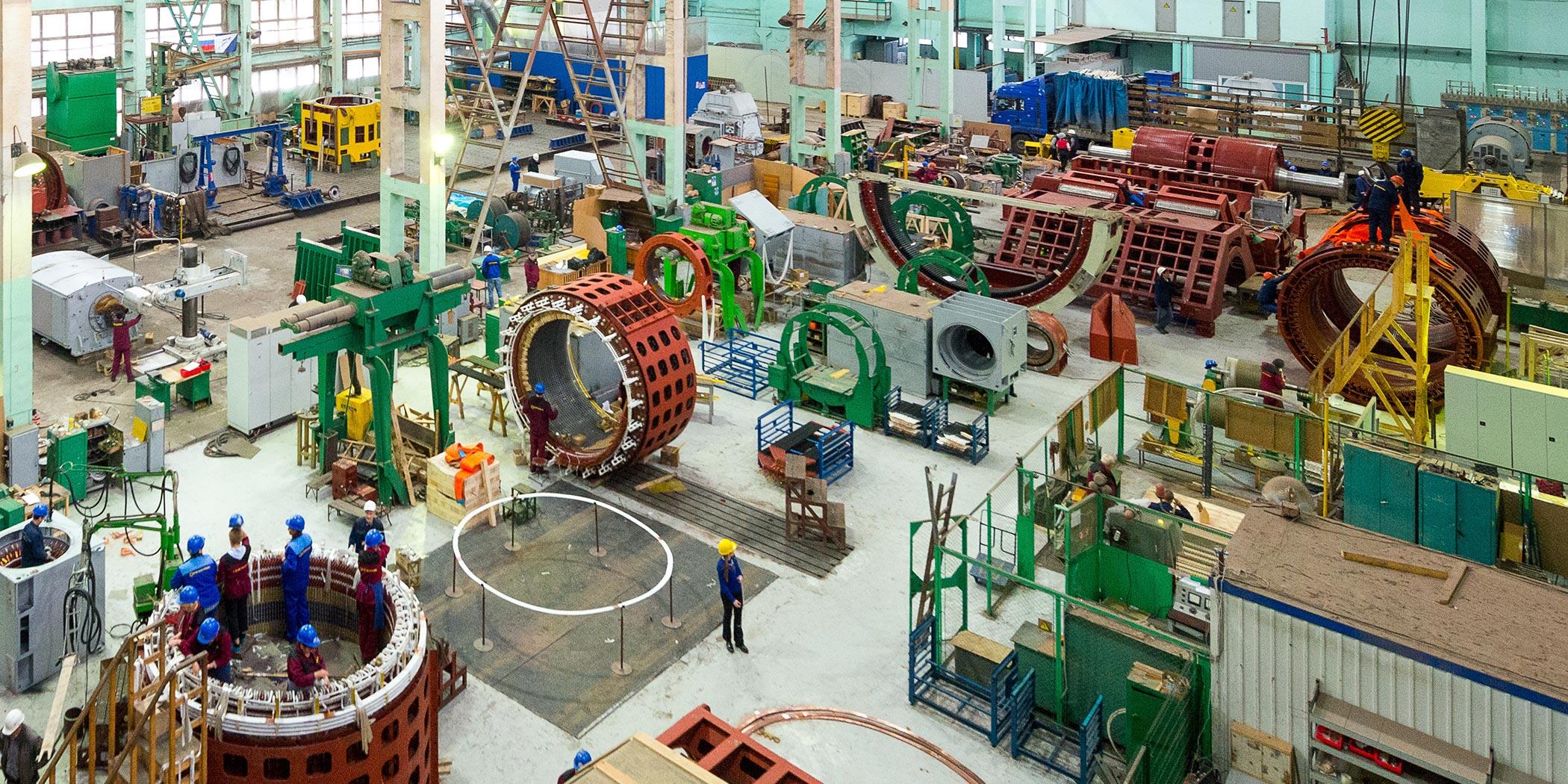 Производствл мощных электродвигателей